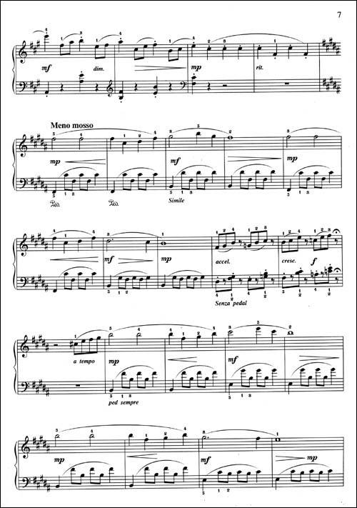 欢乐牧童钢琴曲谱