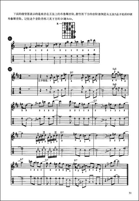 吉他布鲁斯谱子