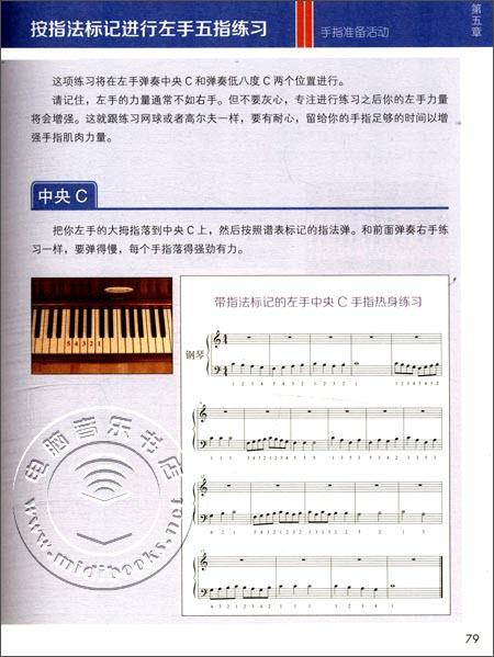 在《看图自学钢琴演奏》中,你将从学习演奏简单的曲调和音阶练习开始图片